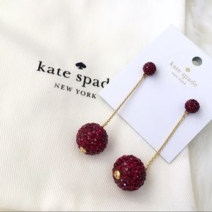 ♠️ Kate Spade Razzle Dazzle Red Drop Earrings
